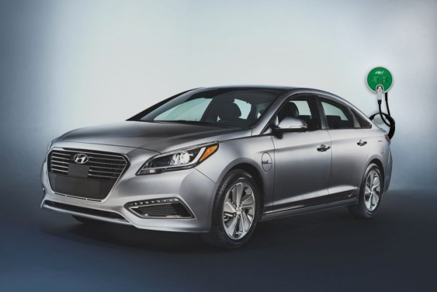 AeroVironment provides the juice for this 2016 Hyundai Sonata Plug-in Hybrid Electric Vehicle (PHEV)